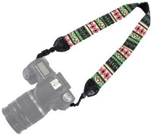 Fotocom Vintage Coloured Camera Strap Green