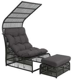 Home4you Chestnut Lounge Chair Dark Brown