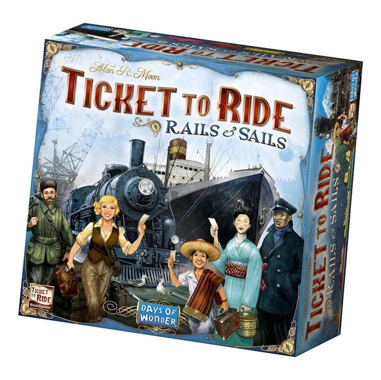 Stalo žaidimas Kadabra, Ticket to Ride, Geležinkeliai ir jūros