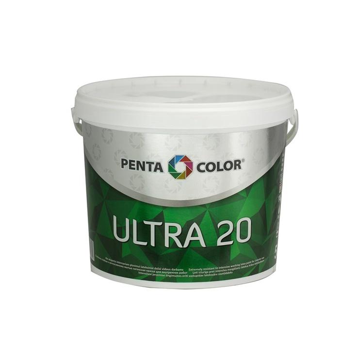 Krāsa dispersijas ultra 20 balta 5 l (Pentacolor )