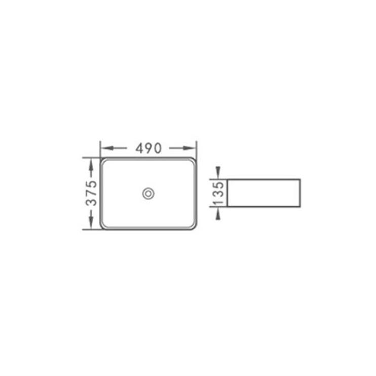Izlietne Aquacubic ACB8025, 48cm
