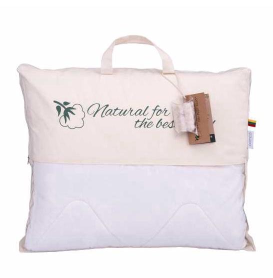 Šilku daigstyta pagalvė Comco Silk, poliesterio užpildas 550 g/m², 70 x 50 cm