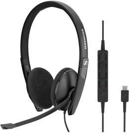 Ausinės Sennheiser SC 160 USB-C Black