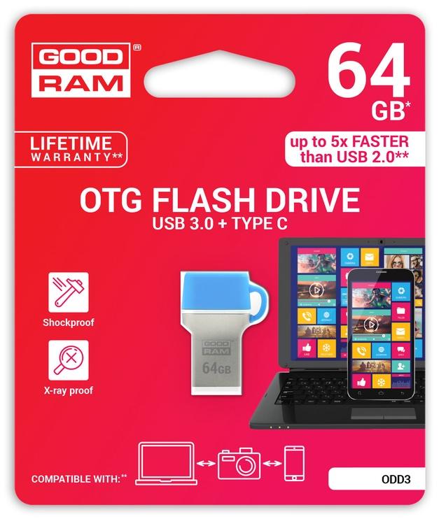 Goodram ODD3 64GB USB 3.0 Blue