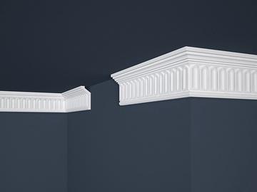 Lubų apdailos juostelės B-19, balta, 200 x 2.8 cm