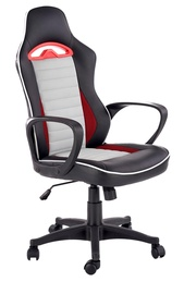 Halmar Bering Office Chair Black/Grey/Red
