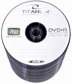 Esperanza 1075 Titanum DVD+R 8x 4.7GB Spindle 100 DVD's