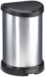 Curver Waste Bin Deco Bin 20L Silver