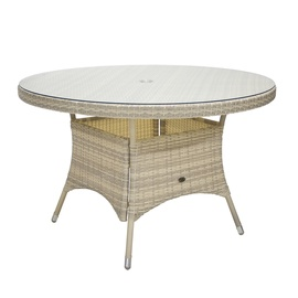Home4you Wicker Table 120x76cm Beige