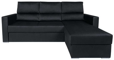 Kampinė sofa Black Red White Morant Black, 227 x 170 x 105 cm