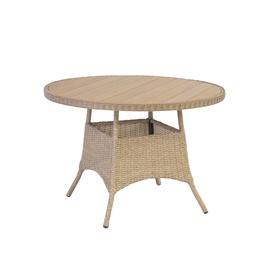 Dārza galds Home4you June Sand, 100 x 100 x 73 cm