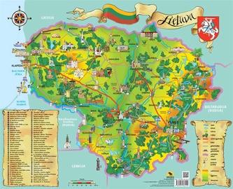 Žemėlapis vaikams Lietuva