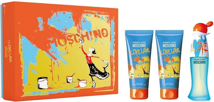 Набор для женщин Moschino Cheap And Chic I Love Love 3pcs Set 250 ml EDT