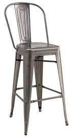 Signal Meble Loft H-1 Hoker Bar Stool Brushed Steel