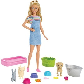 Mattel Barbie Play 'N' Wash Pets Doll And Playset FXH11