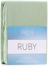 AmeliaHome Ruby Frote Bedsheet 80-90x200 Olive Green 13