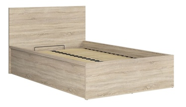 Black Red White Tetrix Bed B 120x200cm Sonoma Oak