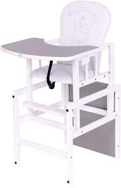 Maitinimo kėdutė Drewex Antos Bear & Butterfly White/Grey