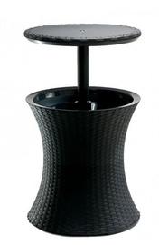 Садовый стол Keter Pacific Anthracite, 49.5 x 49.5 x 57 - 82.5 см