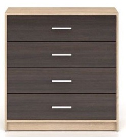 Black Red White Nepo Chest Of Drawers 34x80x84cm Wenge Sonoma Oak