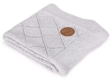 Ceba Baby Rice Stitch Knitted Blanket In Gift Box 90x90 Light Grey