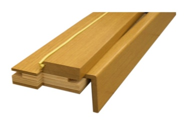 Durų stakta, reguliuojamoji, šviesaus ąžuolo, 75–100 x 980 x 2060 mm