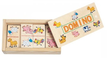 Galda spēle Woodyland Mini Wooden Domino Animals 28pcs