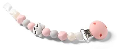 BabyOno Dummy Ribbon Pink/Grey