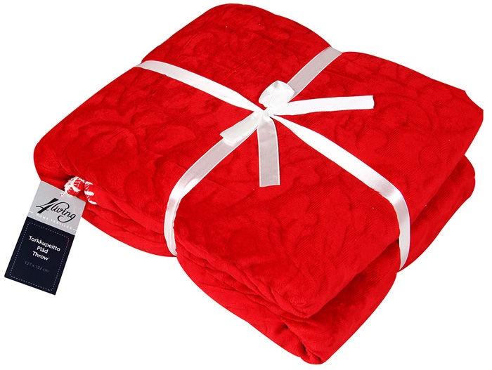 4Living Monaco Blanket 127x152cm Red