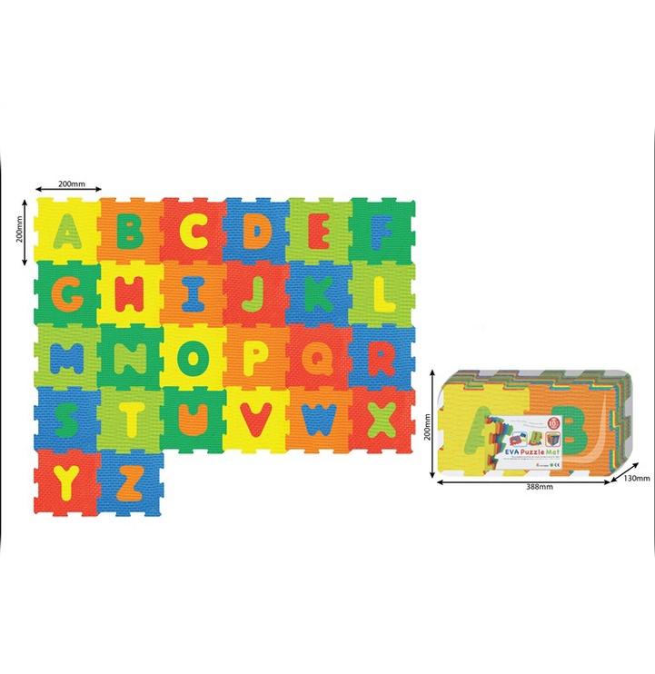 Bērnu paklājiņš-puzle Alfabēts 1082, 26 gab.