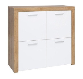 Black Red White Balder Cupboard Riviera Oak/White Gloss