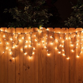 Girlianda Varvekliai, 100 LED, šilta balta, 4.9 m