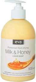 Šķidrās ziepes Eva Natura Hypoallergenic Milk & Honey, 500 ml