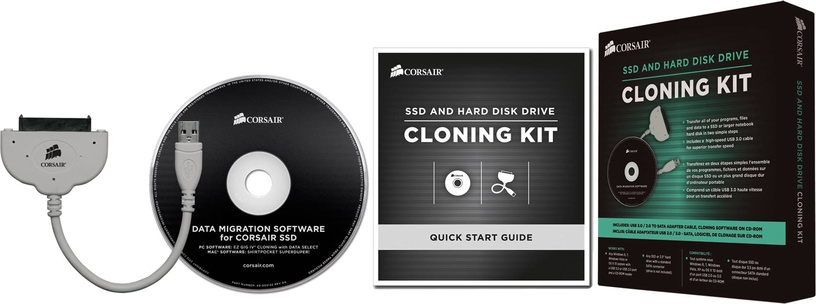 Corsair SSD and HDD Cloning and Upgrade Kit USB 3.0