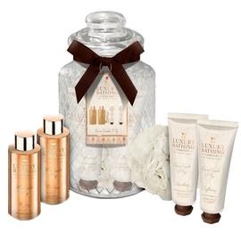 Grace Cole Elegant Treats Shower Gel 100ml + Bath Foam 100ml + Body Cream 50ml + Hand Cream 50ml + Sponge