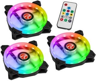 Raijintek Iris 12 Rainbow ARGB Fan 3pcs 120mm Black