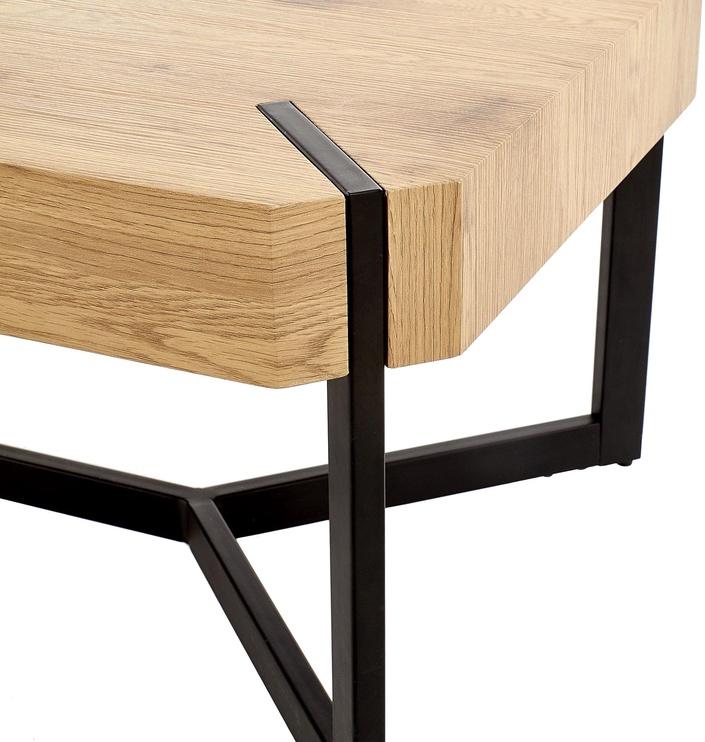 Kohvilaud Halmar Lavida Golden Oak/Black, 1100x600x430 mm