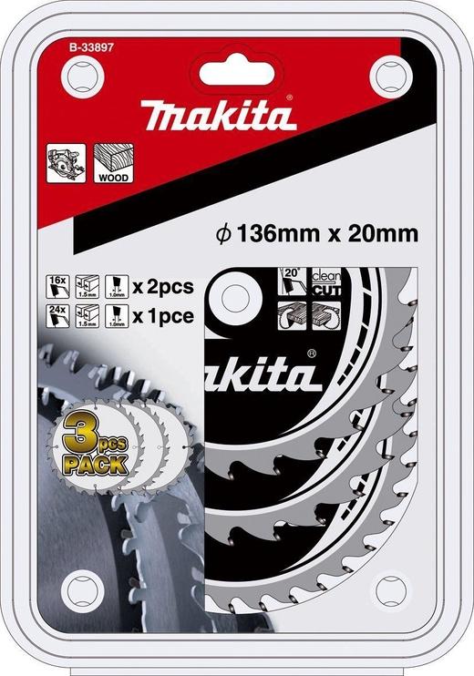 Makita Specialised Saw Blade Set 3pcs B-33897