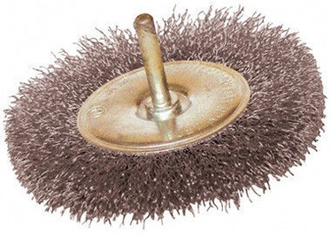 Leman Wheel Brush With Steel Wire 100mm