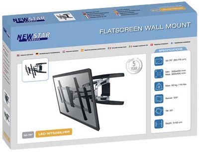 Televizoriaus laikiklis NewStar LED-W750SILVER Wall Mount 32-70''