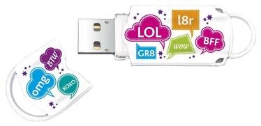 USB atmintinė Integral Xpression Pattern Text, USB 2.0, 16 GB