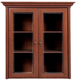 Black Red White Glass Door Cabinet Kent 110x114x43cm Chestnut