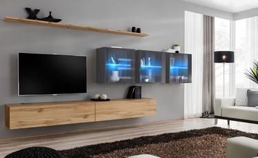Dzīvojamās istabas mēbeļu komplekts ASM Switch XVII Wotan Oak/Graphite