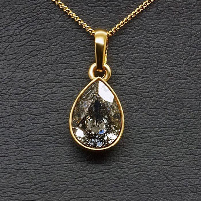 Diamond Sky Pendant Crystal Drop Black Patina With Swarovski Crystals
