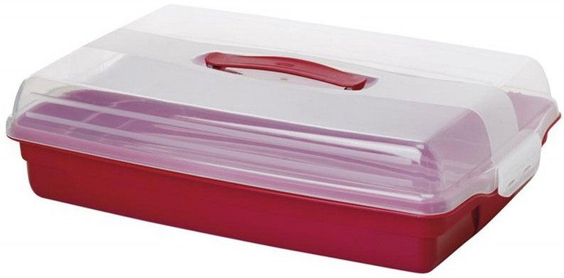 Tordi transpordikast Curver Cake Transporting Box Rectangular 45x29,5x11,1cm Red