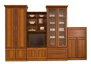 Black Red White Wiki D Wall Unit Aosta Walnut Dark