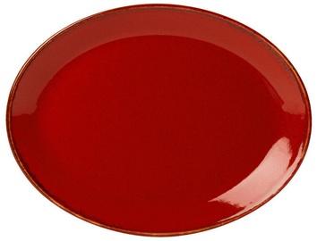 Porland Seasons Oval Plate 23.7x31cm Red
