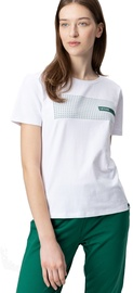 Audimas Womens Cotton Tee With Print White LT S