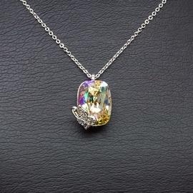 Diamond Sky Pendant Rainbow Moth With Swarovski Crystals