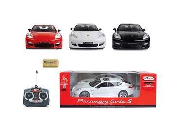 Žaislinė mašina Porsche Panamera, raudona, balta, juoda